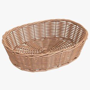 wicker basket brown 3D