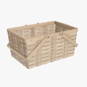 wicker basket picnic model