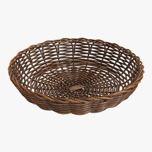 3D wicker basket brown