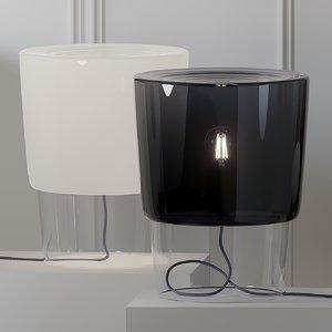 table lamps prandina vestale 3D model