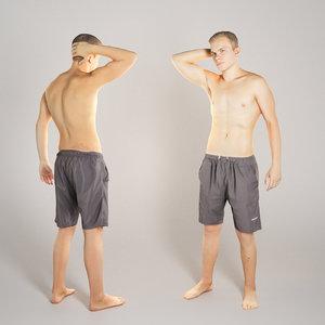 3D young man model