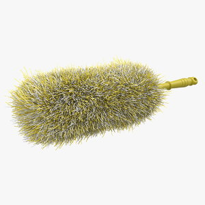 feather duster yellow dust 3D model