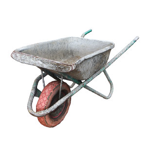 3D model ultra realistic wheelbarrow
