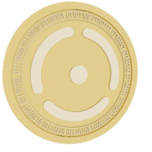 3D seele gold coin