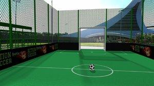 action soccer field 3D