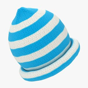 3D realistic baby beanie hat