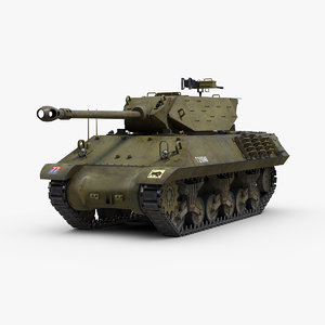 3D model ww2 m10 achilles tank destroyer