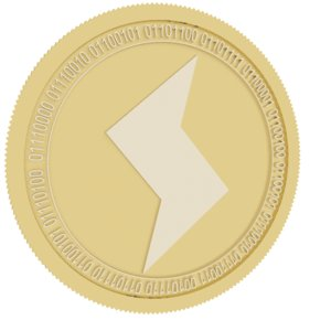 3D model sense gold coin