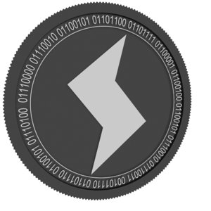 sense black coin 3D model
