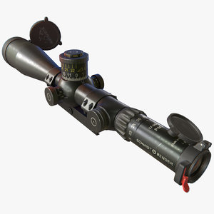 rifle scope covers 3D model