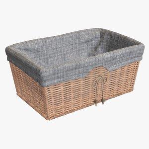 3D wicker basket fabric