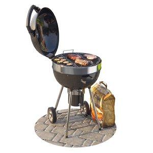 3D model pro charcoal grill