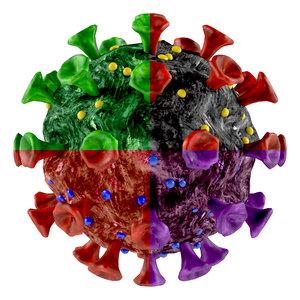 corona virus pack 3D model