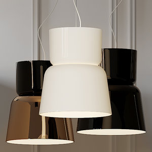 ceiling lights prandina bloom 3D model