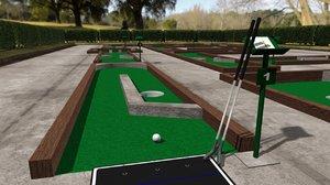 3D putt golf course model