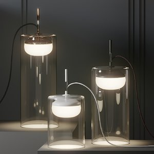 table lamps prandina diver 3D model