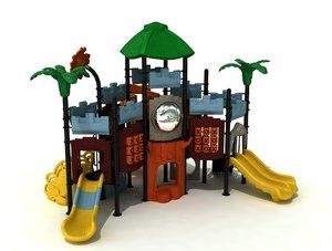 metal playground 3D model