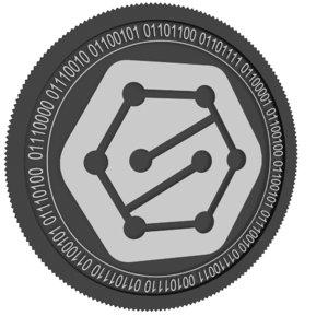 sentinel black coin 3D model