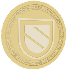 3D sentinel gold coin