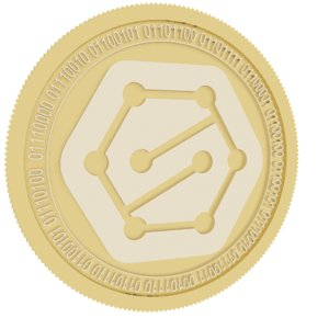 sentinel protocol gold coin 3D