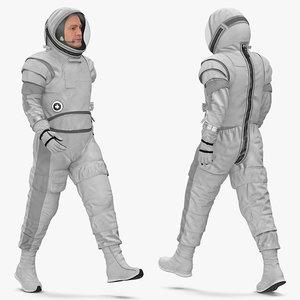 3D astronaut spacesuit generic space