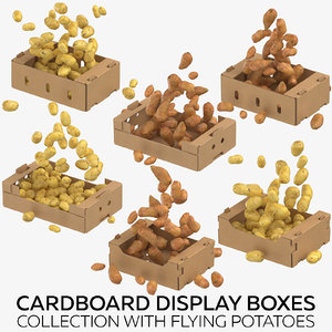 3D cardboard display boxes flying