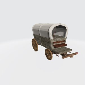 chuck wagon covered 3D model