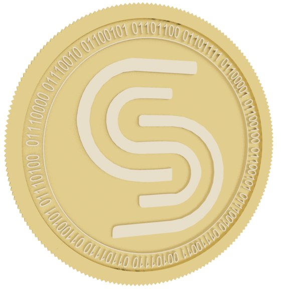 silverway gold coin 3D model