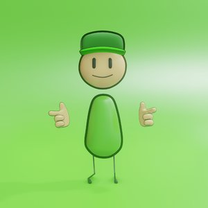 3D character rigged