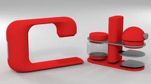 conceptual coffee makers 3D model