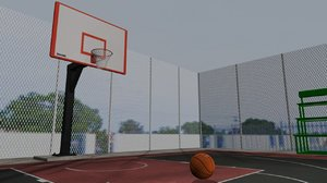 basket ball court 3D model
