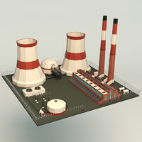 Low Poly Power Plant