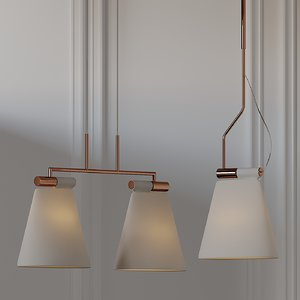 ceiling lights b lux 3D model