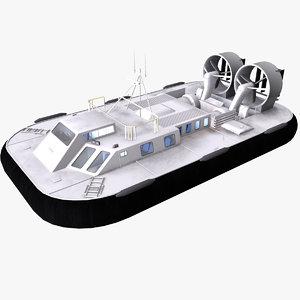 hovercraft boat 3D