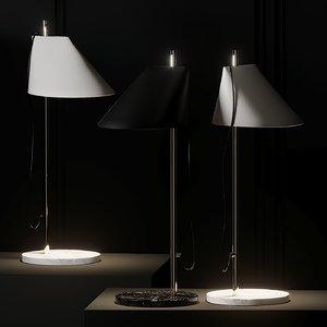 3D table lamps louis poulsen model