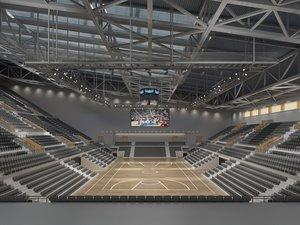 3D multifunctional basketball hall