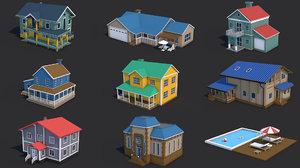 house swimming pool 3D model