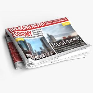 3D newspaper scenes