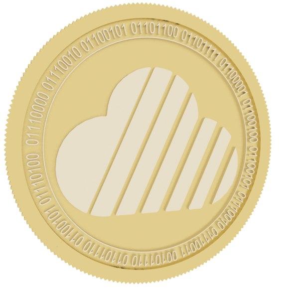 3D skycoin gold coin model