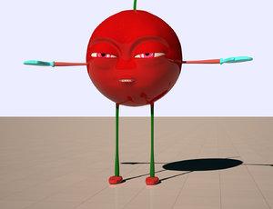 3D cherry cartoon