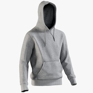 realistic men s hoody 3D model