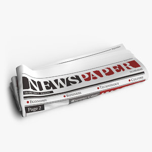 3D model newspaper scenes