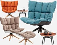 husk armchair b 3D