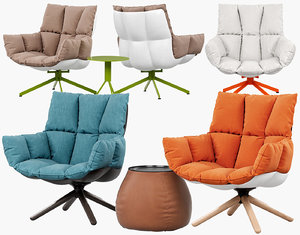 husk armchair 3D model