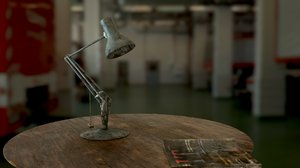 3D old lamp model