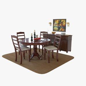 3D dinning room set