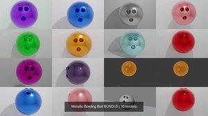 3D bowling ball model
