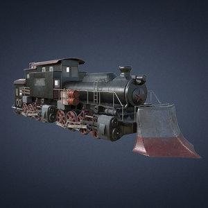 3D locomotive train