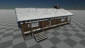 gameready hut winter 3D