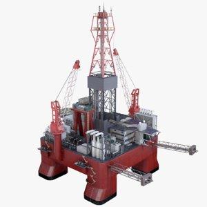 oil rig platform pbr 3D
